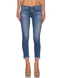 AG Adriano Goldschmied The Stilt Roll-Up Slim Low-Rise Jeans - Lyst