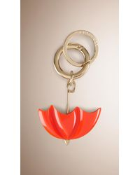 Burberry Brit - British Icon Umbrella Key Charm - Lyst