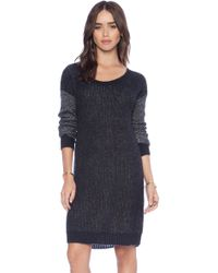 BCBGeneration Textured Sleeve Tunic Dress - Lyst