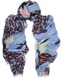 Matthew Williamson Abstract Nature Printed Modal and Cashmere-blend Scarf - Lyst