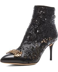 Charlotte Olympia Myrtle Leather Booties - Lyst