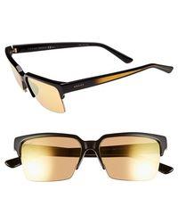 Gucci Rectangle Rimless 54Mm Sunglasses - Lyst