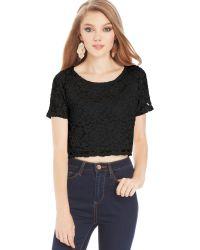 Material Girl Juniors Lace Crop Top - Lyst
