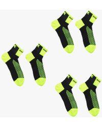 Diadora Pre Pack 3 Socks Race Yellow - Green