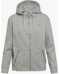Diadora - L.hd Fz Jacket Brushed Fl Grey - Lyst