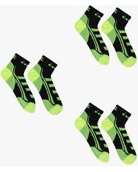 Diadora 3 Lightweight Quarter Socks Black - Green