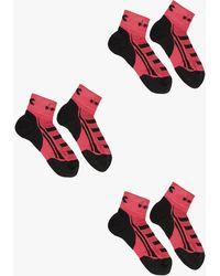 Diadora 3 Lightweight Quarter Socks Red