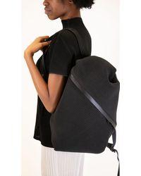 Issey Miyake Pleats Please Bias Backpack In Black