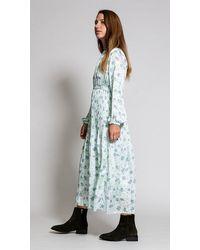 HIDDEN FOREST MARKET Fortuna Pleats Dress In Mint - Multicolor