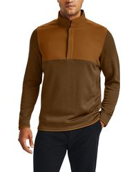 Under Armour Storm Half-snap Golf Pullover - Brown