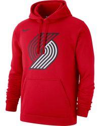 Nike Portland Trail Blazers Pullover Hoodie - Red