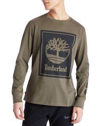 Timberland - Stack Logo Long Sleeve T-shirt - Lyst