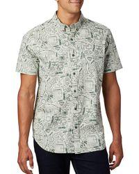 Columbia Rapid Rivers Printed Short Sleeve Shirt - Gray