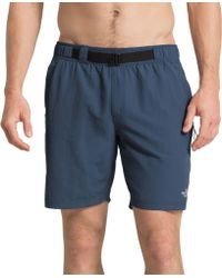 The North Face Class V Belted Trunk Shorts - Blue