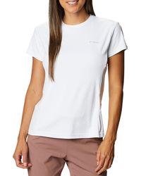 Columbia Zero Ice Cirro Cool Short Sleeve T-shirt - White