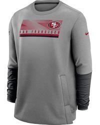 Nike - San Francisco 49ers Sideline Coaches Grey Crew Sweatshirt - Lyst