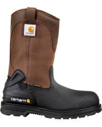 Carhartt Csa 11-inch Wtrprf Insulated Work Wellington Steel Safety Toe Cmr1899 Industrial Boot - Brown