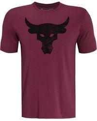 Under Armour Project Rock Brahma Bull Graphic T-shirt - Purple