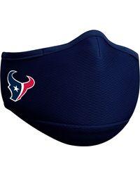 KTZ Adult Houston Texans Navy Face Mask - Blue