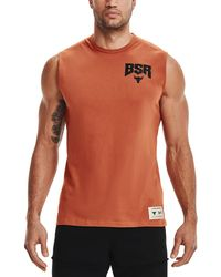 Under Armour - Project Rock Show Your Bsr Sweat Activated Graphic Tank Top - Lyst