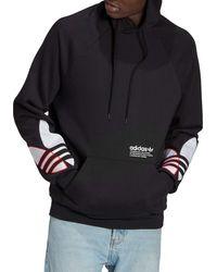 adidas - Tricolor Trefoil Hoodie - Lyst