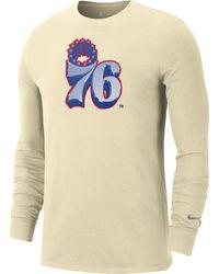 Nike Philadelphia 76ers 2021 Earned Edition Long Sleeve T-shirt - Multicolor
