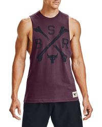 Under Armour Project Rock Bsr Graphic Tank Top - Purple