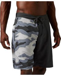 Reebok - One Series Camo Nasty Two-in-one Shorts - Lyst