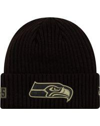 KTZ Salute To Service Seattle Seahawks Black Knit Hat