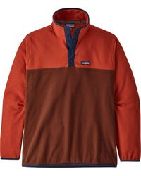 Patagonia Micro D Snap-t Pullover - Red