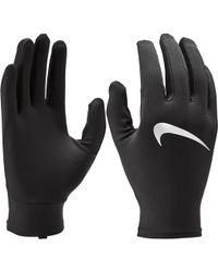 Lyst - Nike Dri-fit Running Beanie glove Set in Black for Men 22447fc10ed5