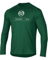 Under Armour Colorado State Rams Green Long Sleeve Tech Performance T-shirt