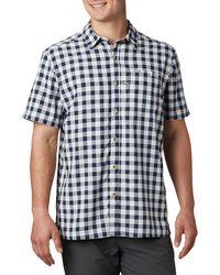 Columbia Pfg Super Slack Tide Short Sleeve Shirt - Blue