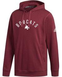 adidas Texas State Bobcats Maroon Fleece Hoodie - Red