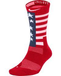 Nike Team Usa Elite Energy Basketball Crew Socks - Red