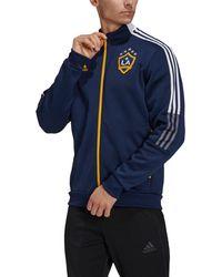 adidas - Los Angeles Galaxy Anthem Navy Jacket - Lyst
