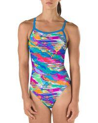 Speedo - Cut Cloud Drill Back Swimsuit - Lyst