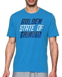 8bc04312 Under Armour - Sc30 Golden State Of Grind Graphic Basketball T-shirt - Lyst