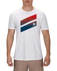 Hurley Premium Icon Slash Gradient T-shirt - White