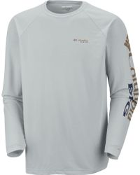 a40c7d9a677 Lyst - Columbia Pfg Terminal Tackle Quarter Zip Long Sleeve Shirt in ...