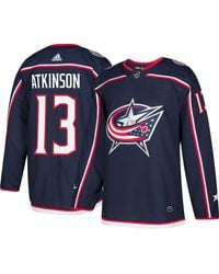 adidas Columbus Blue Jackets Cam Atkinson #13 Authentic Pro Home Jersey