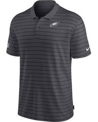 Nike - Philadelphia Eagles Sideline Early Season Anthracite Performance Polo - Lyst