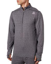 Reebok 24/7 Jersey 1/2 Zip Long Sleeve Shirt - Gray