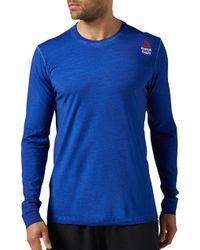 Reebok Crossfit Washed Long Sleeve Shirt - Blue