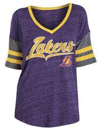 KTZ Los Angeles Lakers Scripted Vintage T-shirt - Purple
