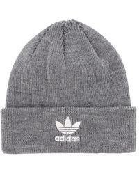 38bb1dd3eff61 adidas Originals Trefoil Ii Knit Beanie in Gray for Men - Lyst
