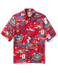 Reyn Spooner Los Angeles Angels Scenic Button-down Shirt - Red