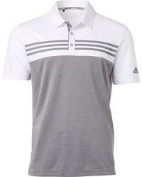 adidas Drive Heather Block Golf Polo - White