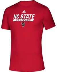 adidas - Nc State Wolfpack Red Tail Sweep Performance T-shirt - Lyst