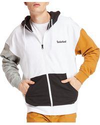 Timberland Full-zip Logo Hoodie - White